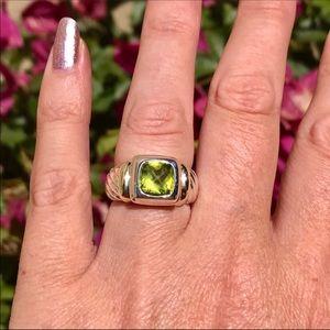 David Yurman Noblesse Ring w/ Peridot & 14K Gold